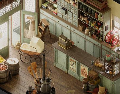 General Store Vintage - Isometric
