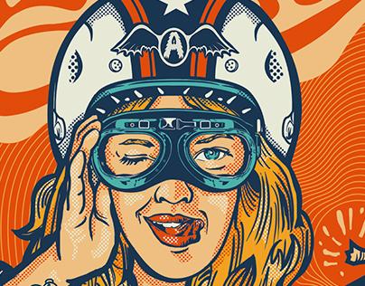 Aerosmith Farewell Tour Poster LIVE SANTIAGO!