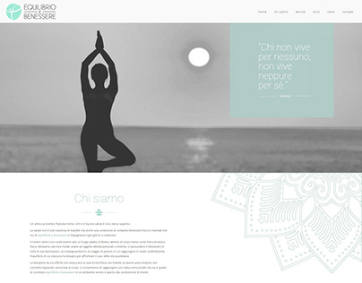 Equilibrio & Benessere | Web Design - Landing Page
