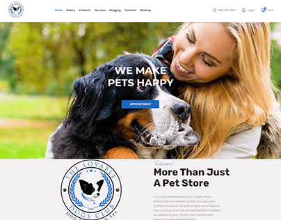 Pets Website Design