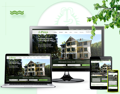 Adaptive web design for clinical sanatorium in Ukraine