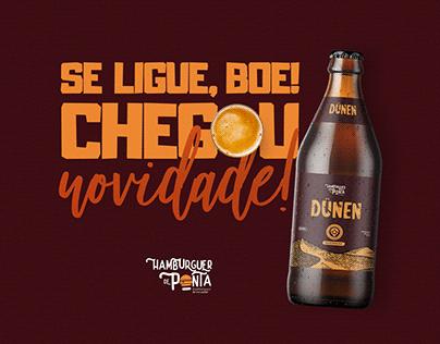 Cerveja Dünen   Hamburguer de Ponta