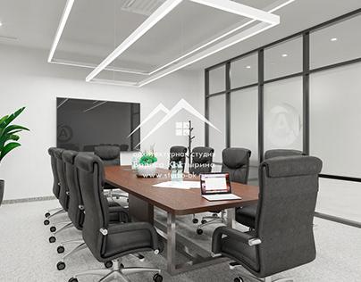 Дизайн-проект переговорной в офисе