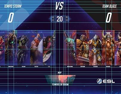 Heroes Draft Animated Overlay - WIP