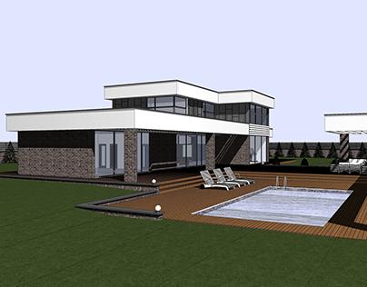 Individual house - 335.13 sq.m.