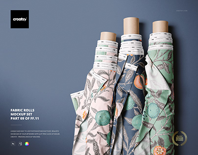 Fabric Rolls Mockup Set (09/FFv.11)