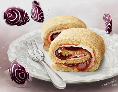 Roll Cake / Adobe Creative Cloud Official