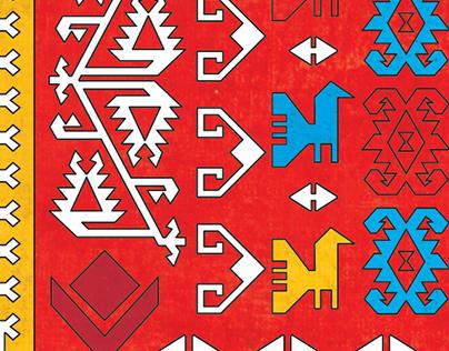 Coloring Book for kids / Bosnian Carpet / Ćilim / Kilim