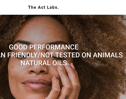 Интернет-магазин натуральной косметики The Act Labs.
