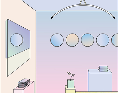 Illustrations inspired by interior designs