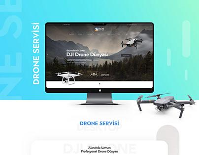 DJI Drone Web Design