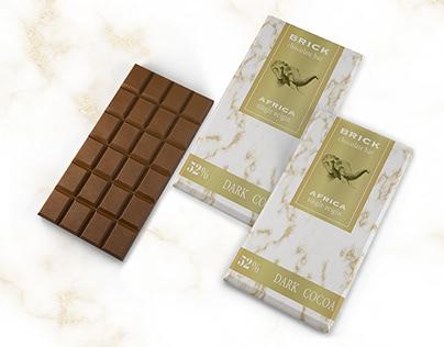 BRICK CHOCOLATE BAR-PACKAGING DESIGN