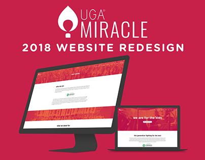 UGA® Miracle 2018 Website Redesign
