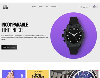 Website for Watch shop
