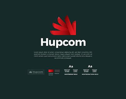 Hupcom logo design & branding design