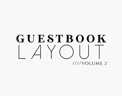 Guestbook Layout Vol. 2