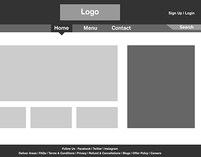 Wireframe for a Food Website!