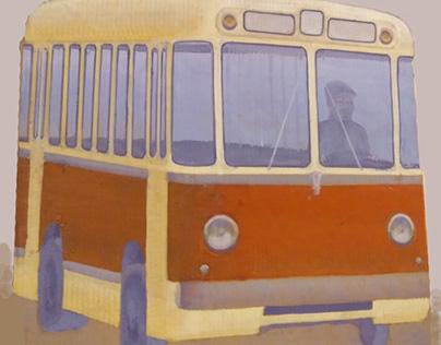 инсталяция московский троллейбус