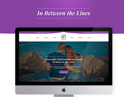 Therapy Website Design - In Between The Lines