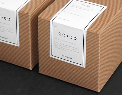 CO+CO Organic Coconut Oil packaging design