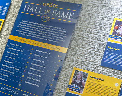 Brescia University Athletic Hall of Fame Graphics