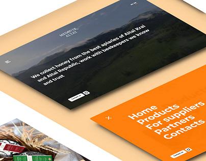 Medovik. Design, HTML&CSS. 2019