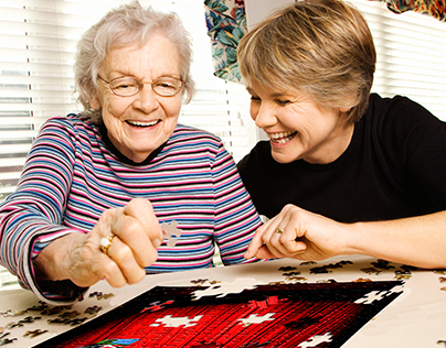 Jigsaw Puzzles with Grandma :)