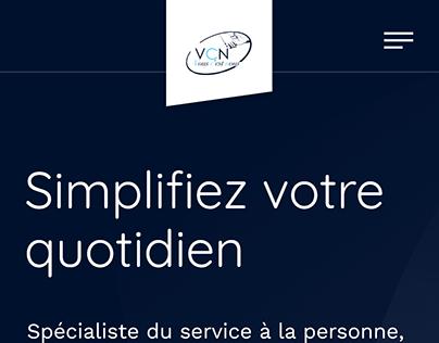 Elderly Care Website - Mobile Version