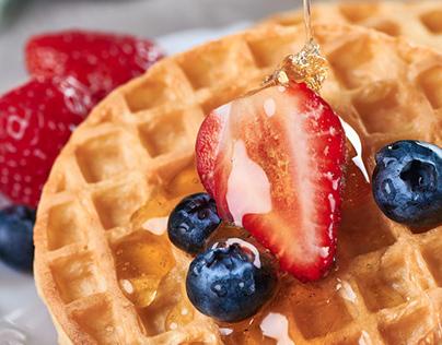 Food Photography - Waffle Forno de Minas