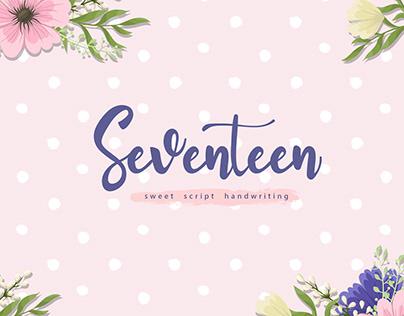 FREE | Seventeen Script Handwriting font