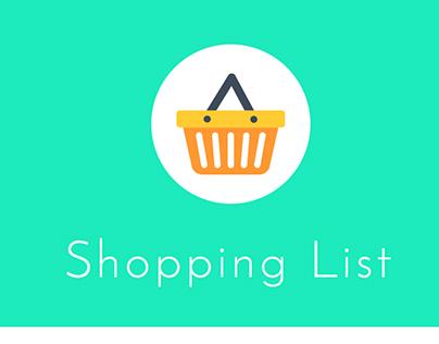 Responsive Shopping List App