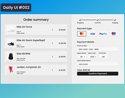 Credit card checkout Daily UI