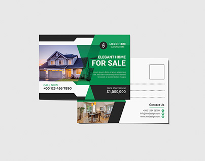 Real Estate Modern Postcard design vol- 4