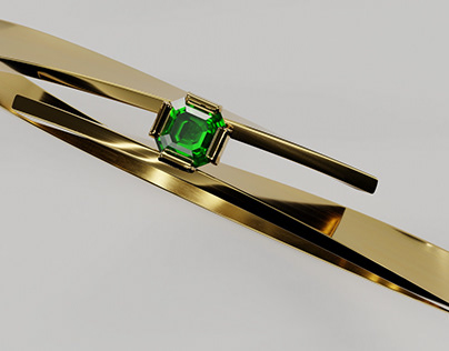 Gold Ring with Emerald