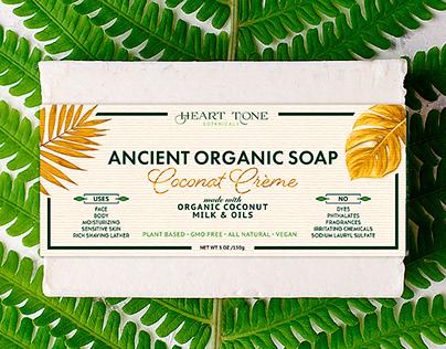 Ancient Organic Soap. Label Design.
