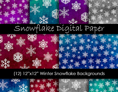 Grunge Snowflake Backgrounds