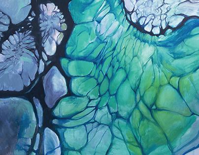 Organic series   paintings