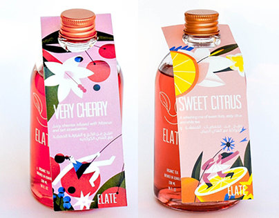 Elate Tea Packaging Illustrations
