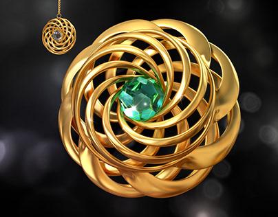 Jewelry modeling, crystal and diamond | Cinema 4d