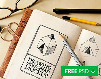 Free Drawing Sketch Pad Mockup