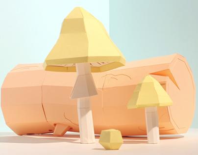 Mushrooms Stop-Motion