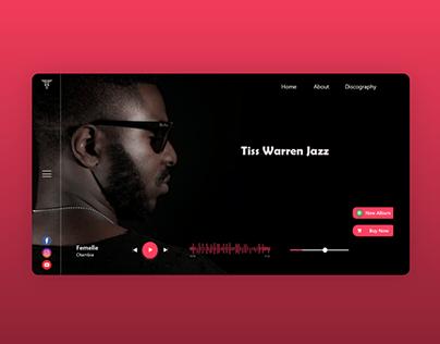 Music artist website