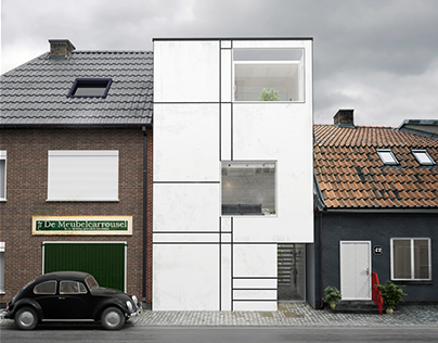 HOUSE WHITE BOX IN MAASTRICHT