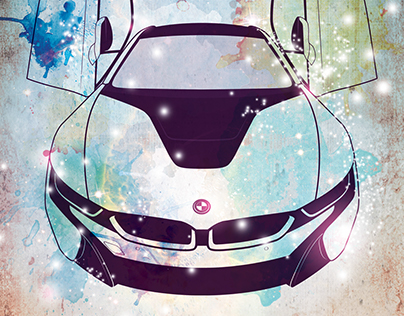 BMW i8 Illustration