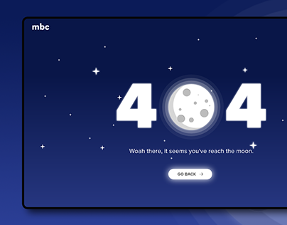 Moon 404 Page Design