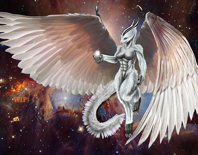 Derivation of white draconian, semi Elohim