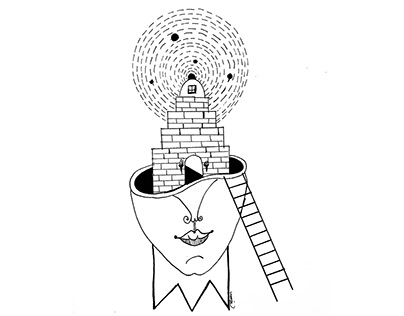 Surreal Weird Pen and Ink