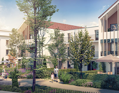 Renders for urban renovation project in Beynost, France