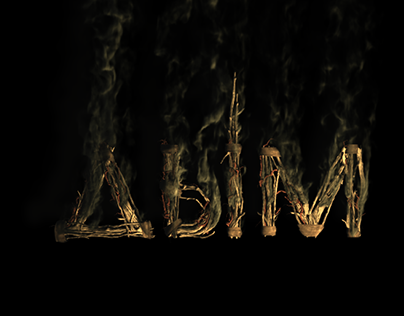 Film title design «Smoke ancestors»