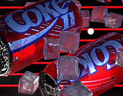 Coke II - Adobe Dimension 3D Render